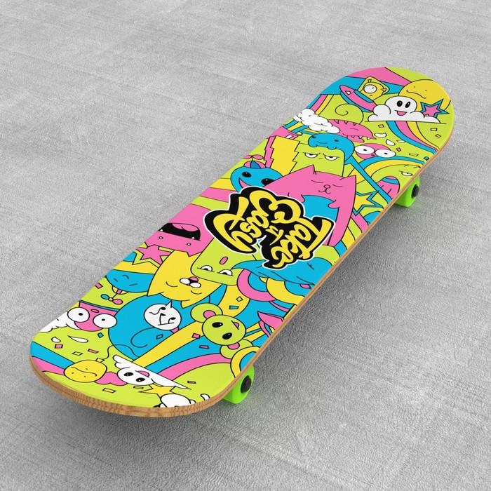 """Шкурка для скейтборда """"Take it easy"""", 22,8 х 83 см"""
