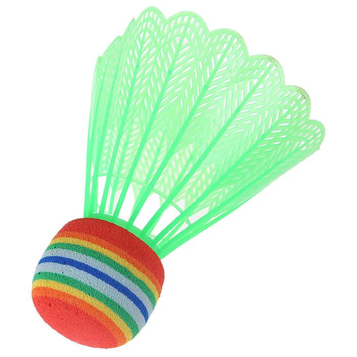 Воланчик пластиковый с пенопластовым основанием, набор 12 шт., цвета МИКС