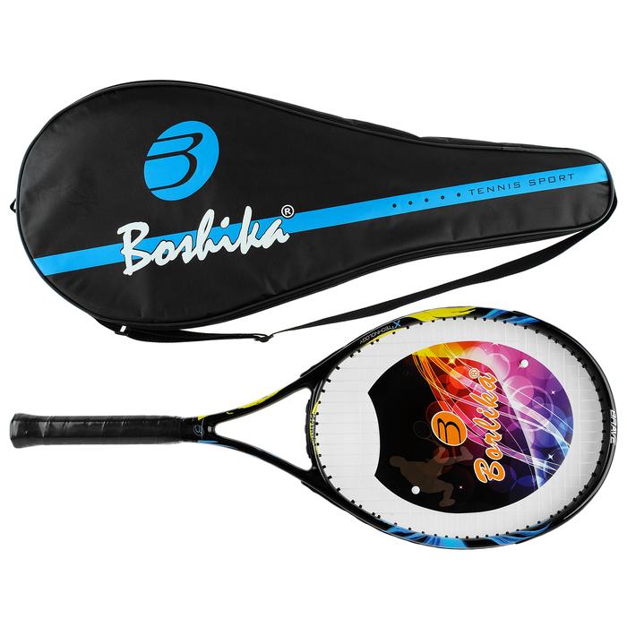 Ракетка для большого тенниса BOSHIKA, тренир, алюминиевая,285 гр