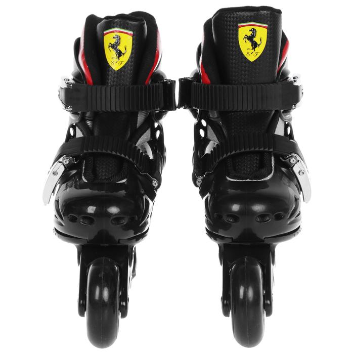 Набор роликовые коньки+Защита FERRARI р 29-32, колеса PU, ABEC 5, цвет черный