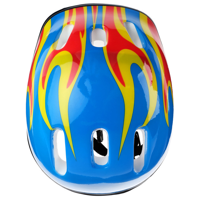 Шлем защитный детский OT-H6, размер M (55-58 см), цвет синий