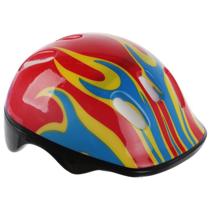 Шлем защитный детский OT-H6, размер M (55-58 см), цвет красный