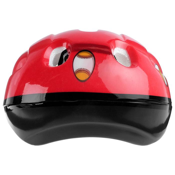 Шлем защитный OT-502 детский р S (52-54 см), цвет красный