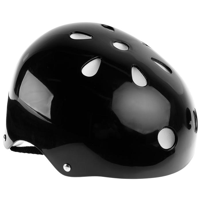 Шлем защитный OT-S507 детский, d= 55 см, цвет черный