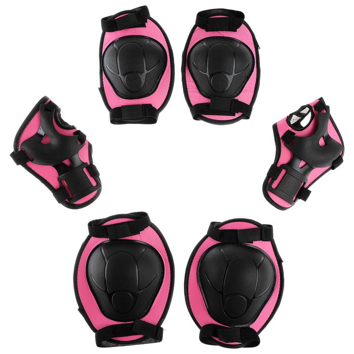 Защита роликовая OT-2015, размер М, цвет розовый