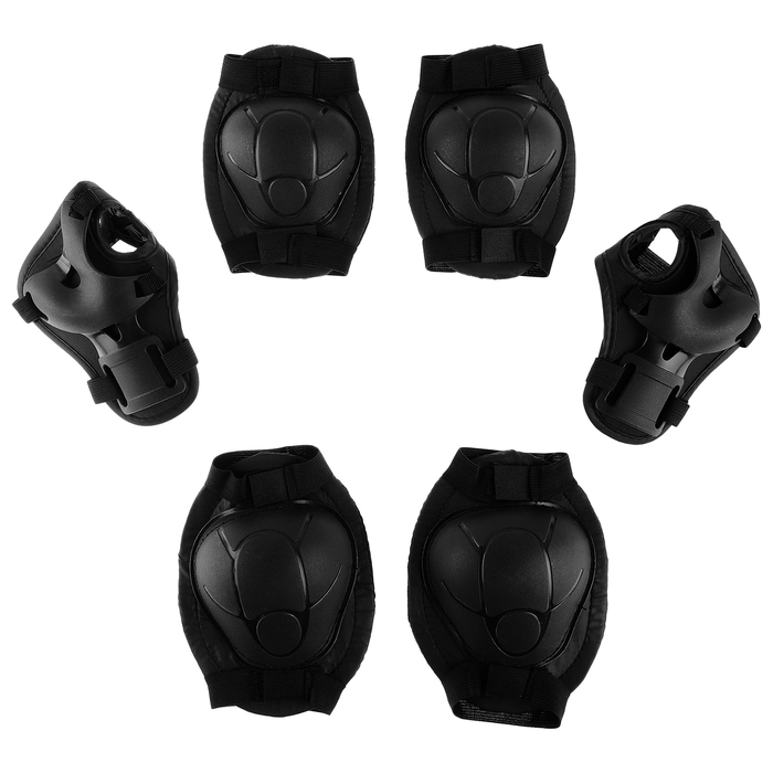 Защита роликовая, размер М, цвет чёрный