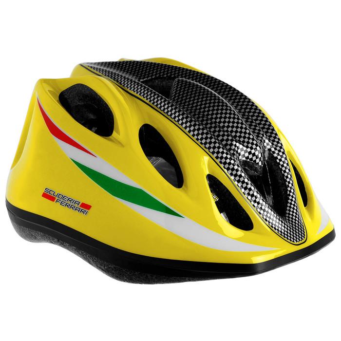 Шлем защитный, детский FERRARI, р. М (56-58 см), цвет желтый