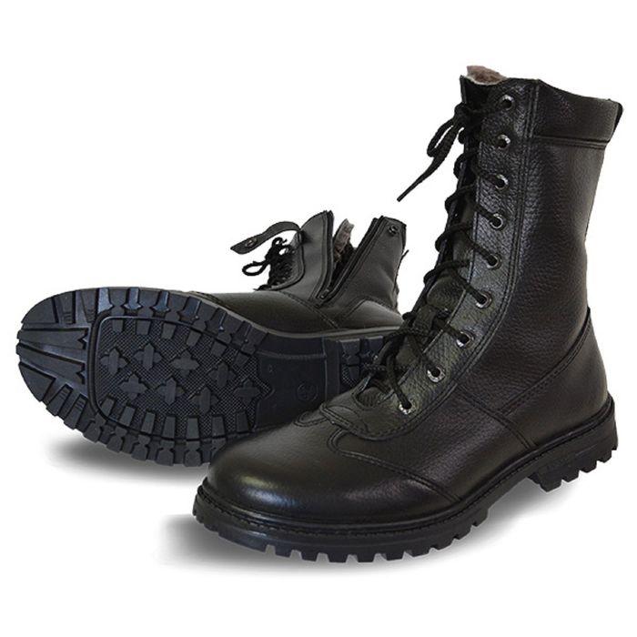 Ботинки мужские «Ратник» на молнии, с натуральным мехом, размер 45