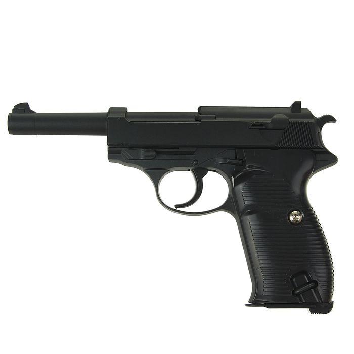 Пистолет пружинный Galaxy Walther P-38 G.21, клб 6 мм
