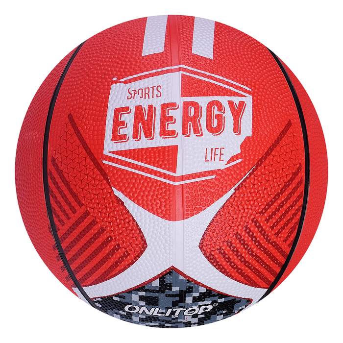 "Мяч баскетбольный ONLITOP ""ENERGY"", размер 5, PVC, бутиловая камера, 400 г"