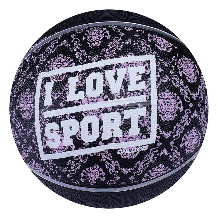 """Мяч баскетбольный ONLITOP """"I LOVE SPORT"""", размер 6, PVC, бутиловая камера, 450 г"""