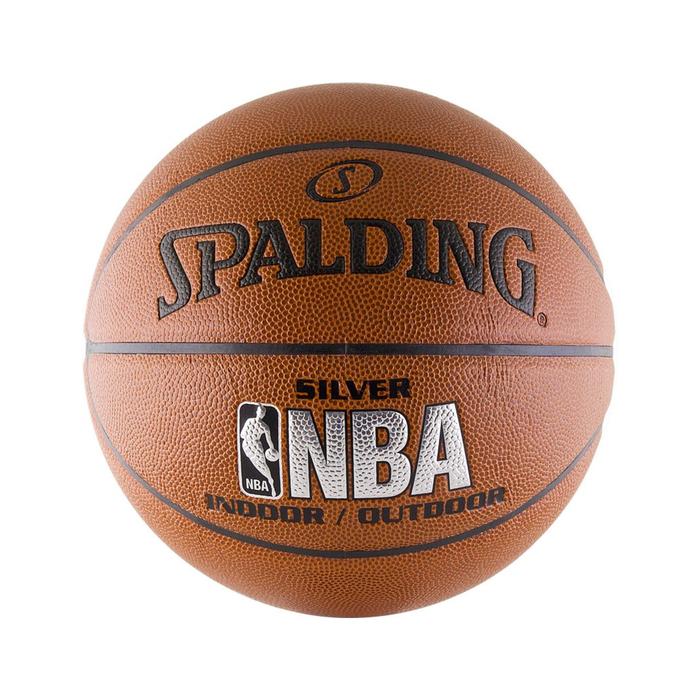 Баскетбольный мяч NBA Silver, с логотипом NBA, размер 7