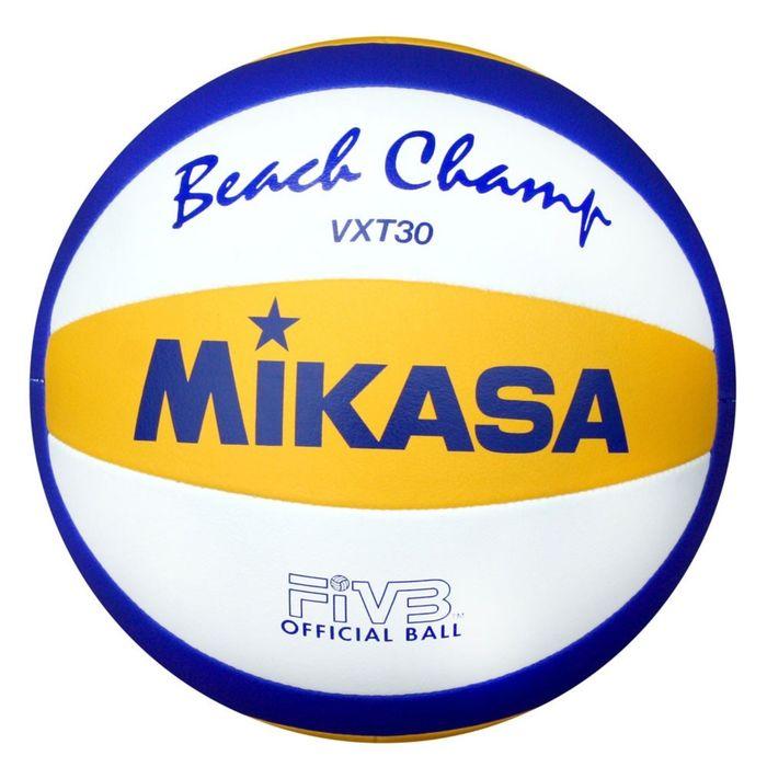 Мяч волейбольный пляжный Mikasa VXT30, размер 5, машинная сшивка