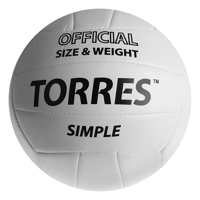Мяч волейбольный Torres Simple, V30105, размер 5, машинная сшивка