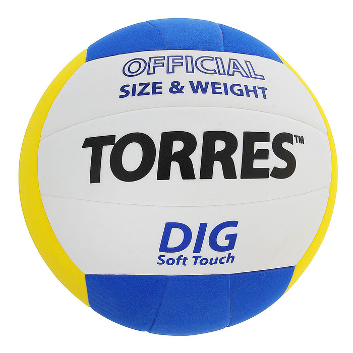 Мяч волейбольный Torres Dig, V20145, размер 5, клееный