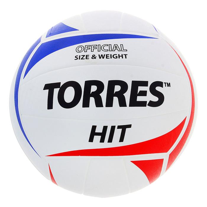 Мяч волейбольный Torres Hit, V30055, размер 5, PU, бутиловая камера, клееный