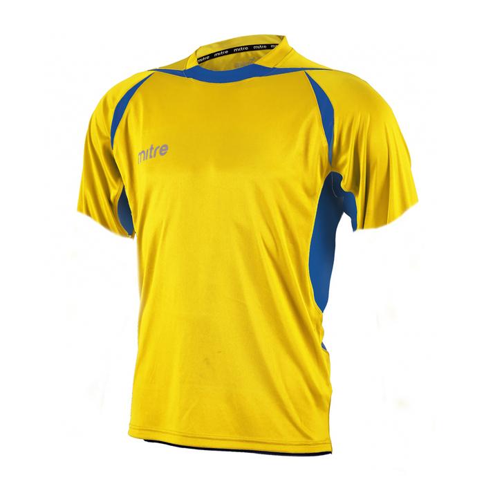 Футболка игровая MITRE ANGULAR Взросл(SR) желт/син кор рукав M