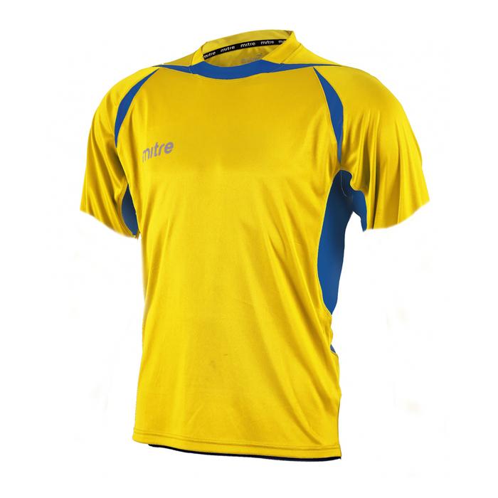 Футболка игровая MITRE ANGULAR Взросл(SR) желт/син кор рукав XL