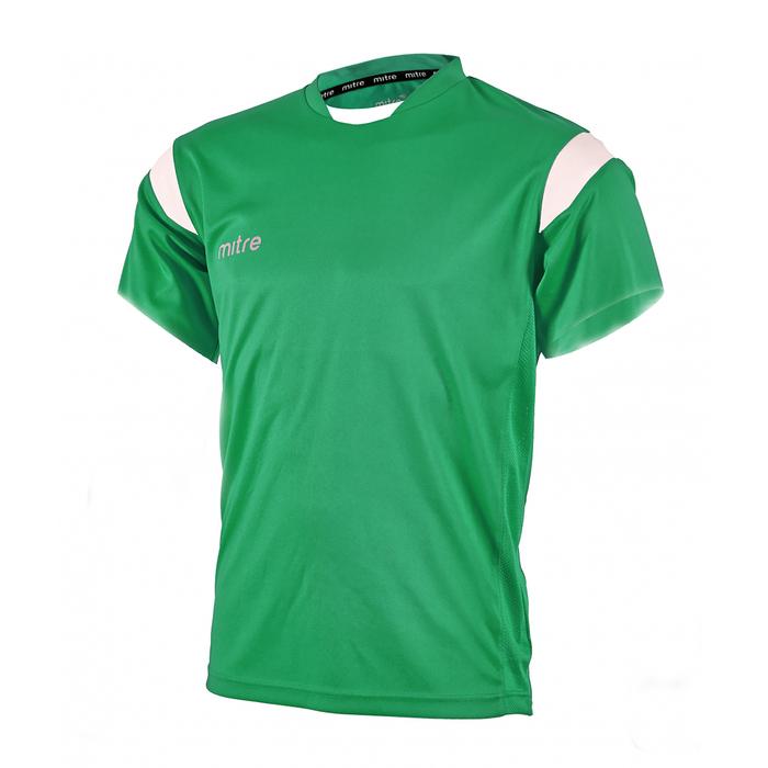 Футболка игровая MITRE MOTION Взросл(SR) зелен/бел кор рукав XS