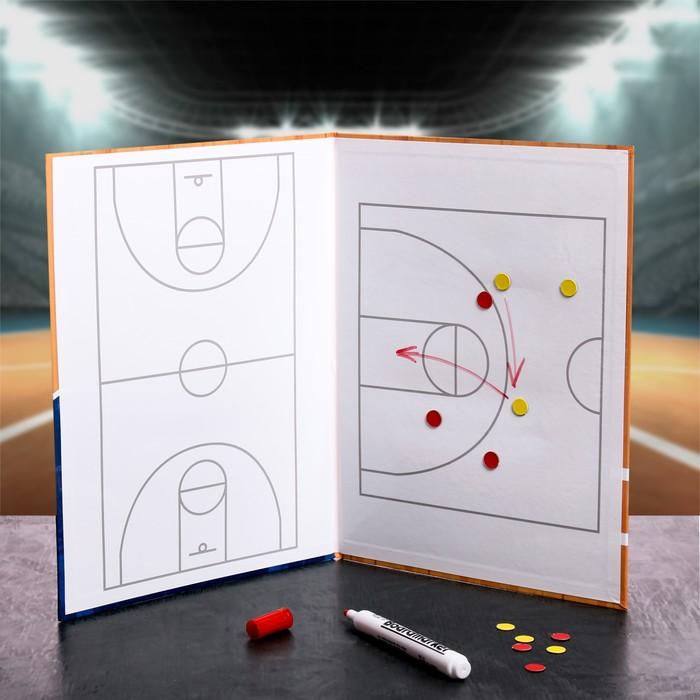 """Набор тактическая доска для тренера """"Баскетбол"""""""
