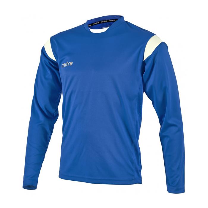 Футболка игровая MITRE MOTION юниор син/бел дл рукав размер XS