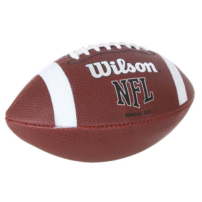 Мяч для американского футбола Wilson NFL Official Bin, WTF1858XB, PU, машинная сшивка