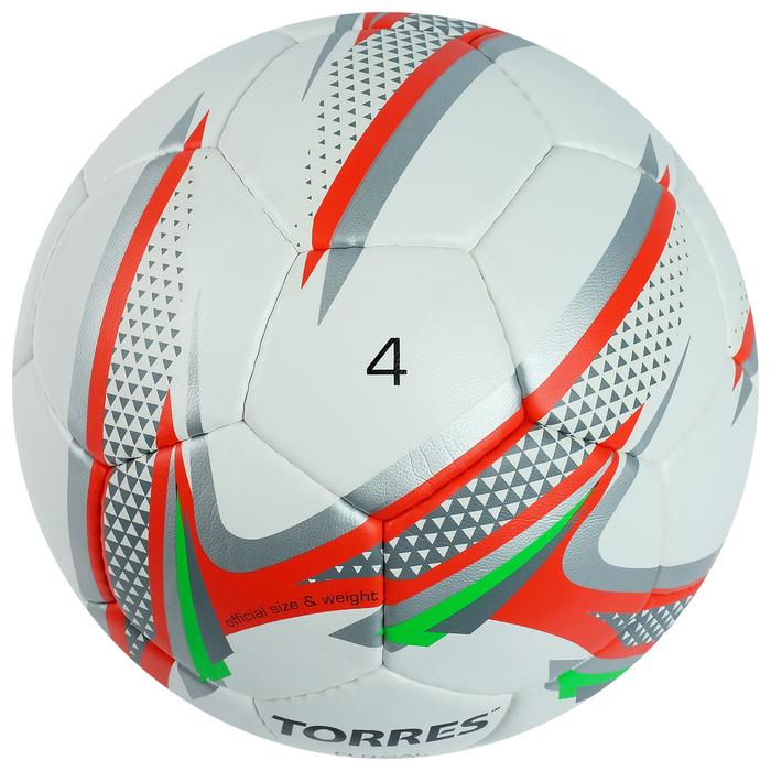 Мяч футзальный Torres Futsal Matc, F30064, размер 4, PU, ручная сшивка