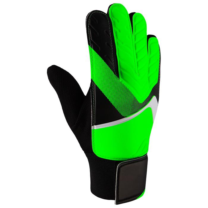 Перчатки вратарские, размер 9, цвет салатовый