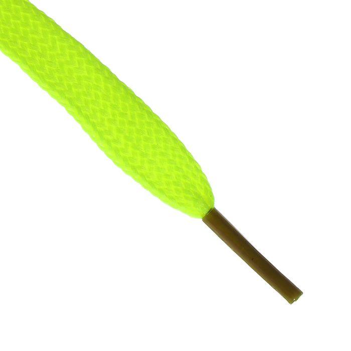 Шнурки для обуви, 7 мм, 120 см, пара, цвет жёлтый неоновый