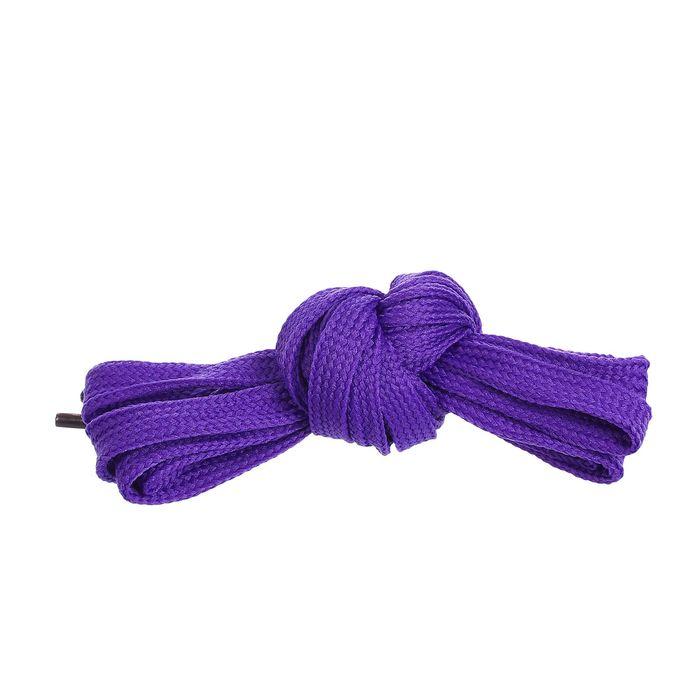 Шнурки для обуви, 7 мм, 120 см, пара, цвет фиолетовый