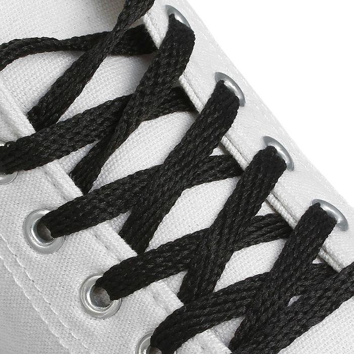Шнурки для обуви, 7 мм, 160 см, пара, цвет чёрный
