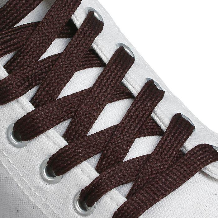 Шнурки для обуви, 7 мм, 120 см, пара, цвет коричневый