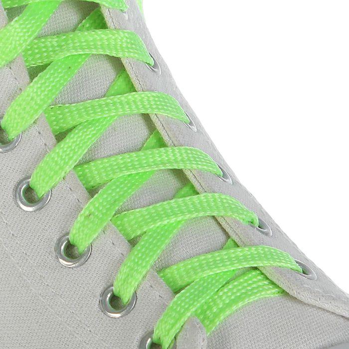 Шнурки для обуви, d = 10 мм, 100 см, пара, цвет зелёный