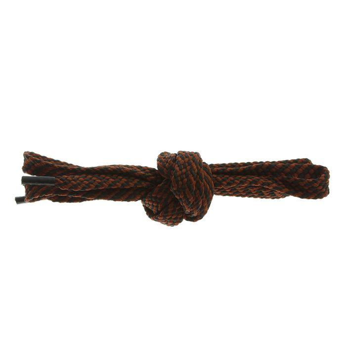 Шнурки для обуви, 8 мм, 130 см, пара, цвет чёрно-коричневый