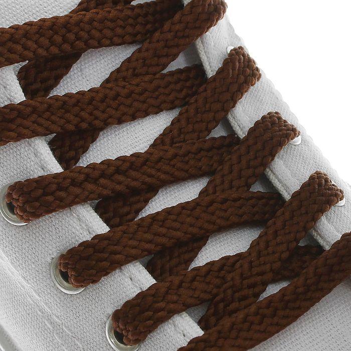 Шнурки для обуви, 8 мм, 130 см, пара, цвет коричневый