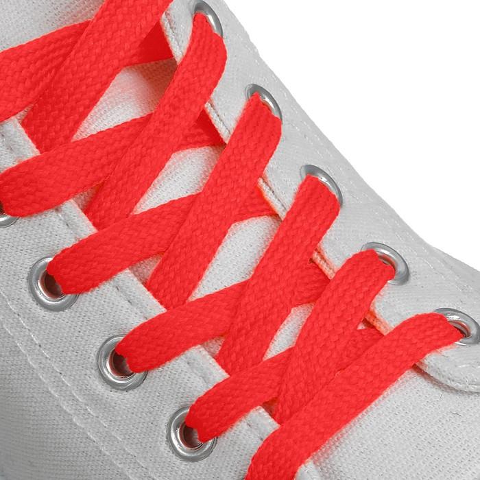 Шнурки для обуви, 10 мм, 120 см, пара, цвет красный