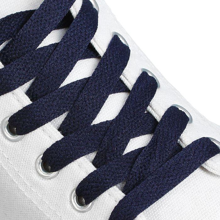 Шнурки для обуви, 9 мм, 180 см, пара, цвет синий