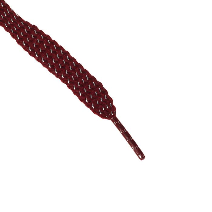 Шнурки для обуви, 8 мм, 110 см, пара, цвет коричневый