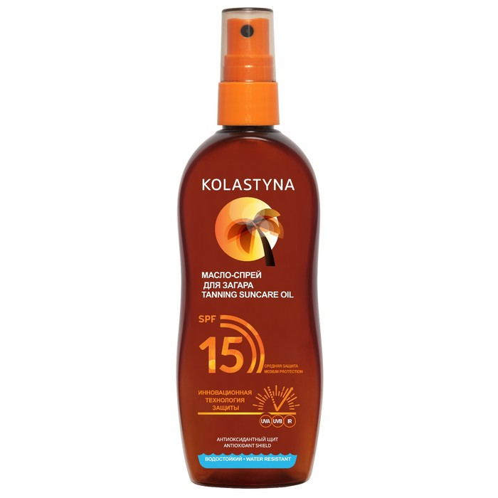 Масло-спрей для загара Kolastyna Spf15, 150 мл