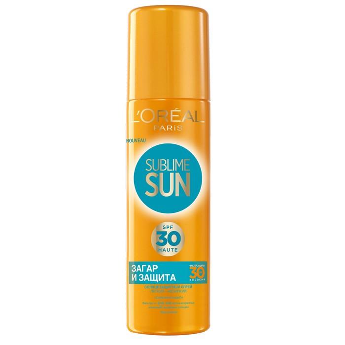 Спрей солнцезащитный L'Oreal Sublime Sun «Безупречный загар», SPF 30, 200 мл