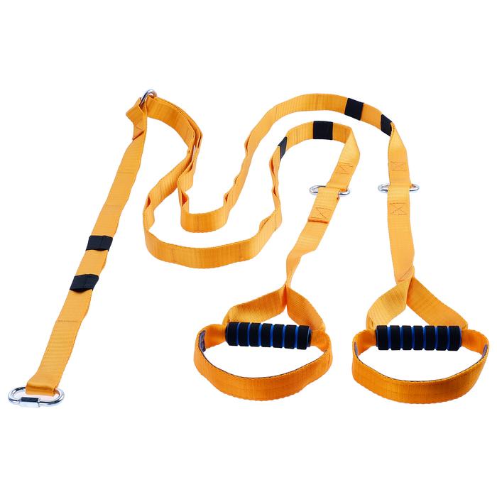 Эспандер-многофункциональный тренажёр «Петли» регулируемый карабином 36-14