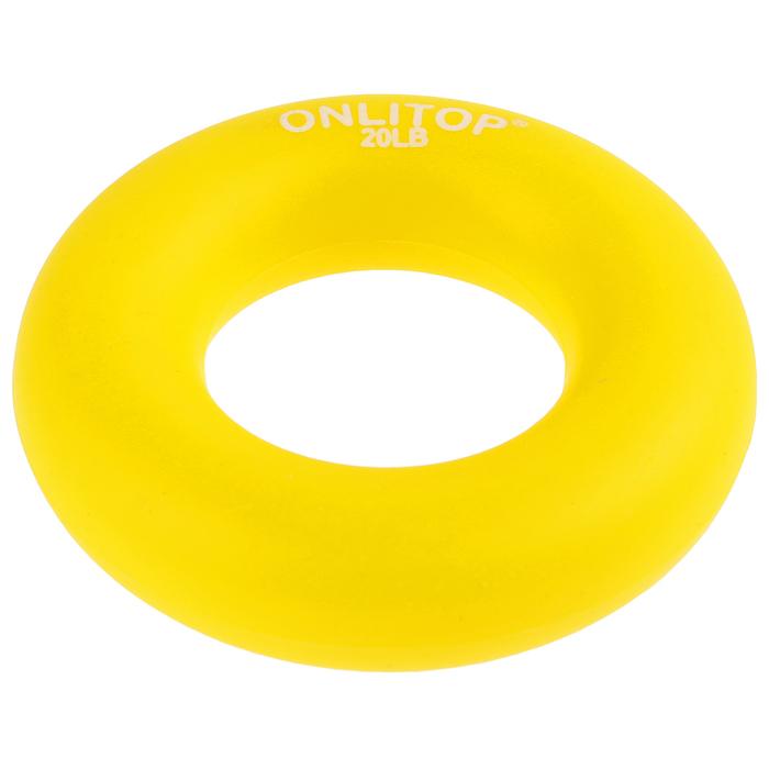 Эспандер кистевой 6,5 см, нагрузка 10 кг, цвет желтый