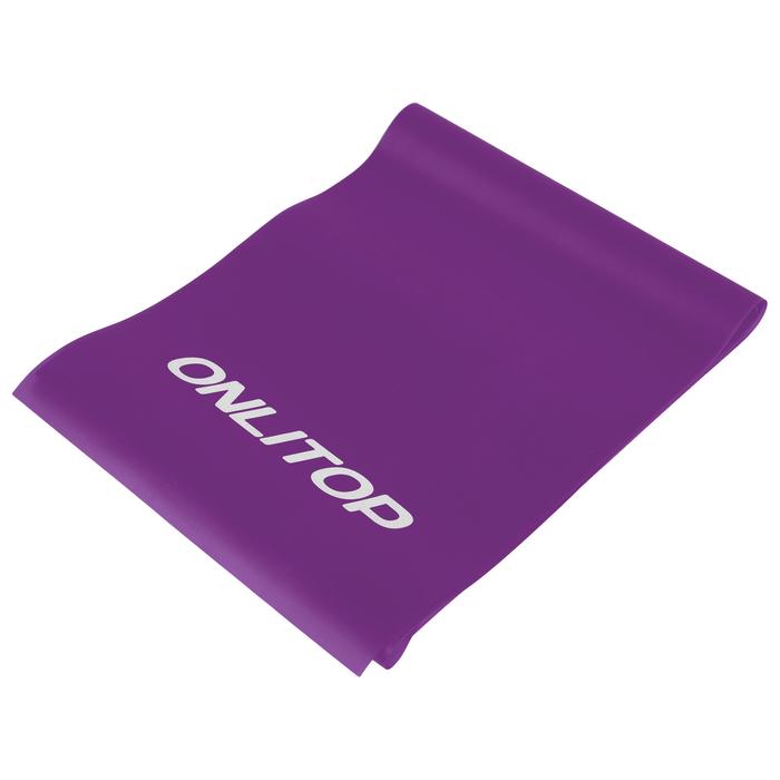 Эспандер ленточный для фитнеса 150*15*0.04 см, цвет микс