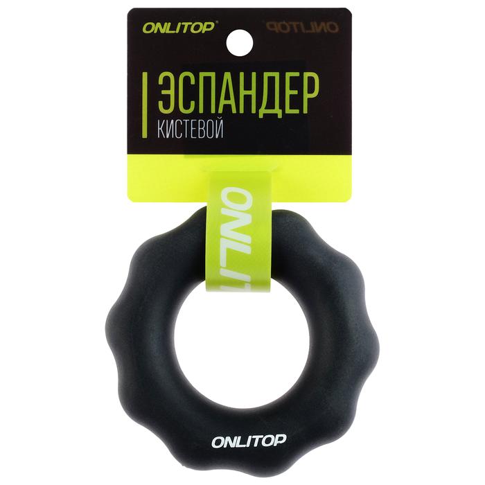 Эспандер кистевой 8 см, нагрузка 40 кг, цвет черный