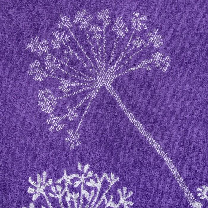"""Полотенце махровое """"Этель"""" Зонтики, цвет ультрафиолет, 70х130 см, 100% хл, 420 г/м²"""