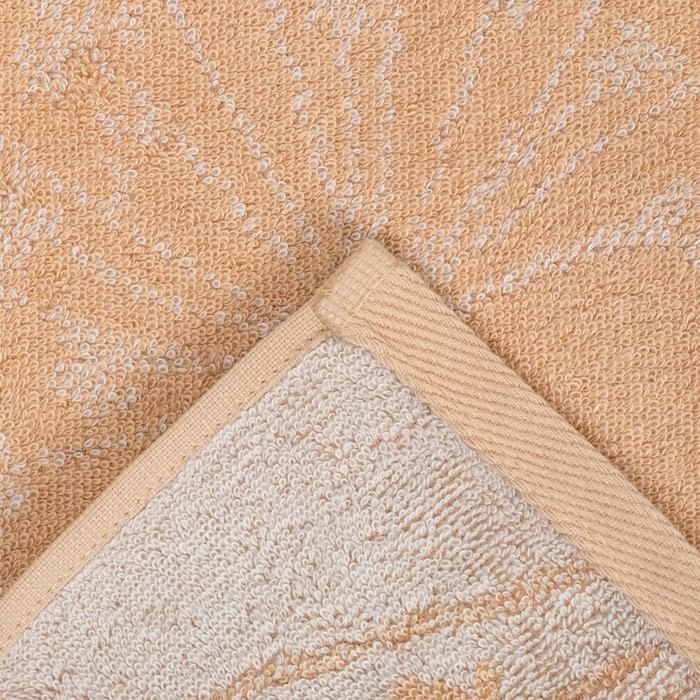 """Полотенце махровое """"Этель"""" Зонтики, цвет айвори, 70х130 см, 100% хл, 420 г/м²"""