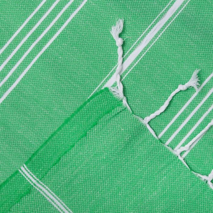 Полотенце пляжное пештемаль 100х180 см, цв светлозеленый, 280 г/м2,хлопок 100%