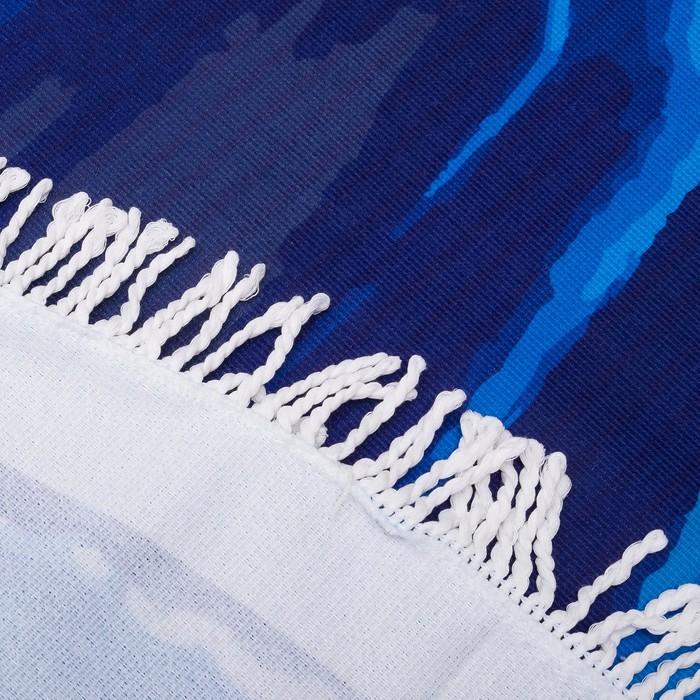 Полотенце пляжное круглое Этель «Минерал» цветсиний, диаметр 150 см, 100 % п/э