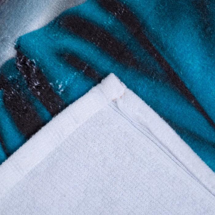 "Полотенце махровое Этель ""Футбол"" 70х140 см, 70 % хл., 30 % п/э, 350 гр/м2"