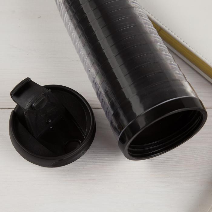 Термостакан под вставку черный ребристый 350 мл